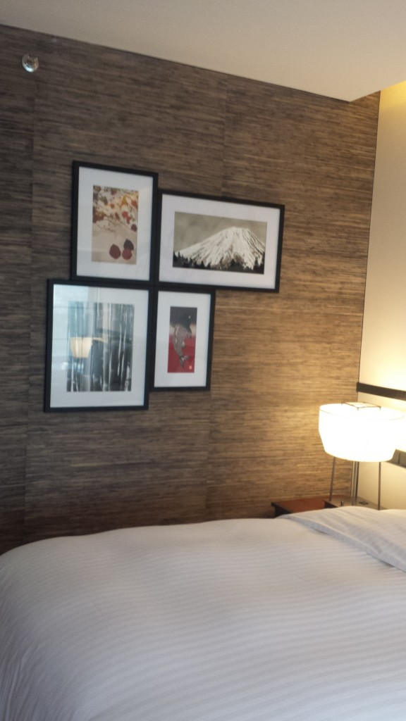 The lovely Japanese-inspired rooms have very nice artwork and other very well-thought out amenities in the room.