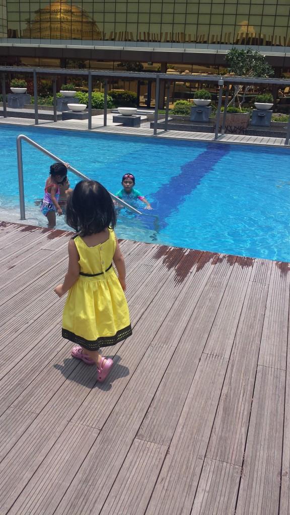 The pool deck at Nobu Hotel, City of Dreams Manila