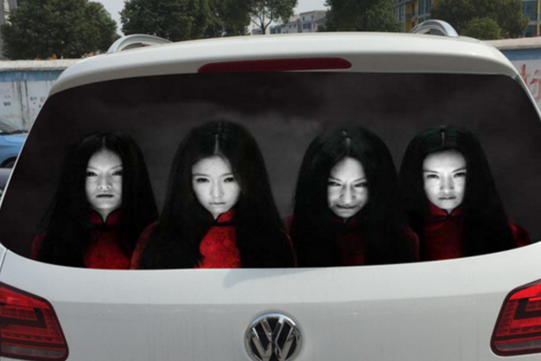 Interesting Travel: Ghost Car Decals in China
