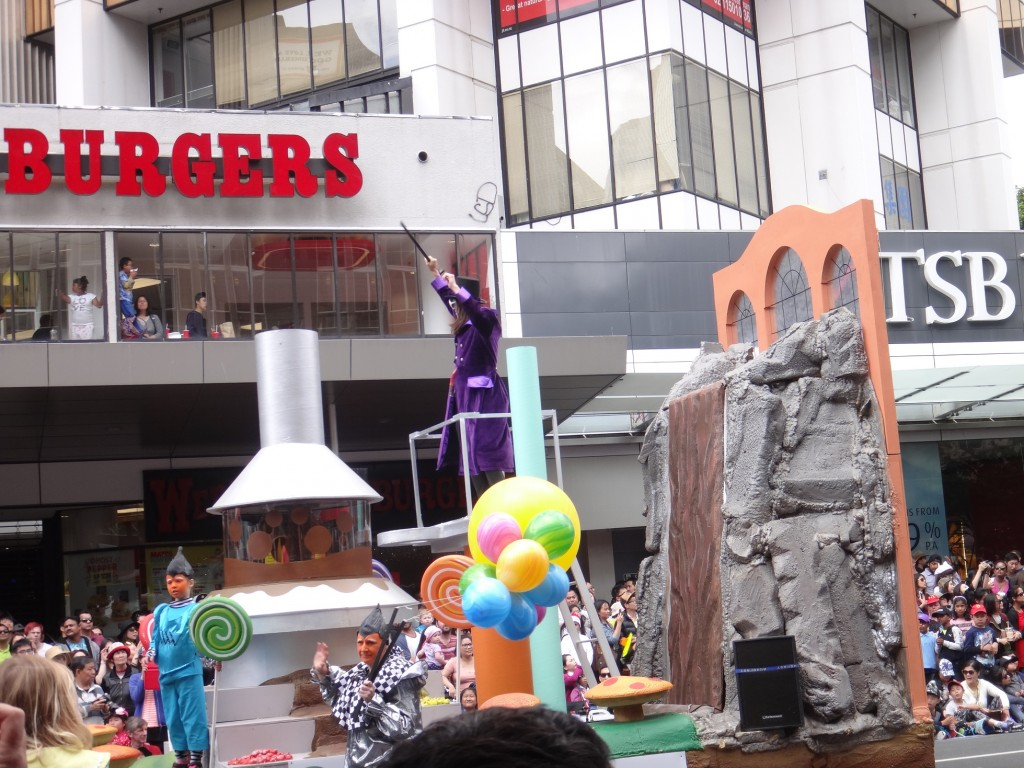 Santa Parade in Auckland - Willy Wonka