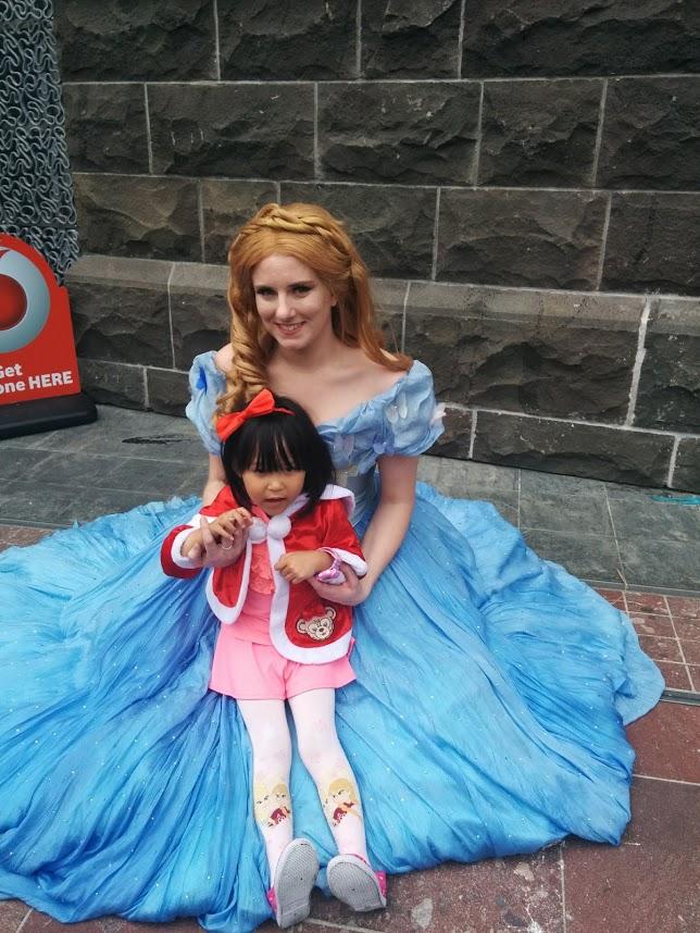 Disney Princess at Santa Parade