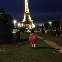 A little girl in a big world.